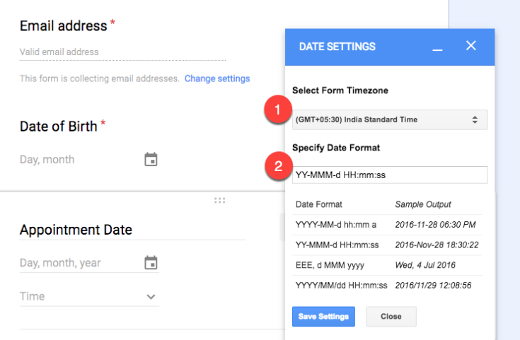 How to Change the Date and Time Format in Google Forms Email