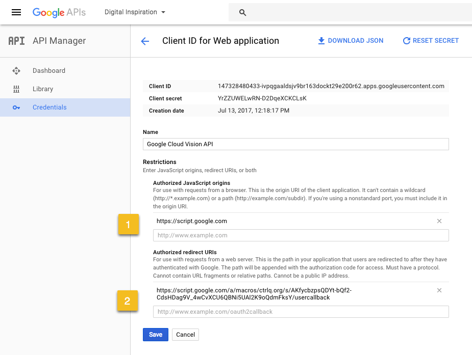 How to Use Google Cloud APIs with Apps Script - Sample