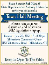 hall town meeting middlebury kane senator host june please join invite attend road ct senate state end
