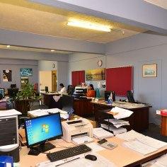 Procurement department office.