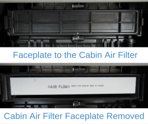 Cabin Air Filter Faceplate