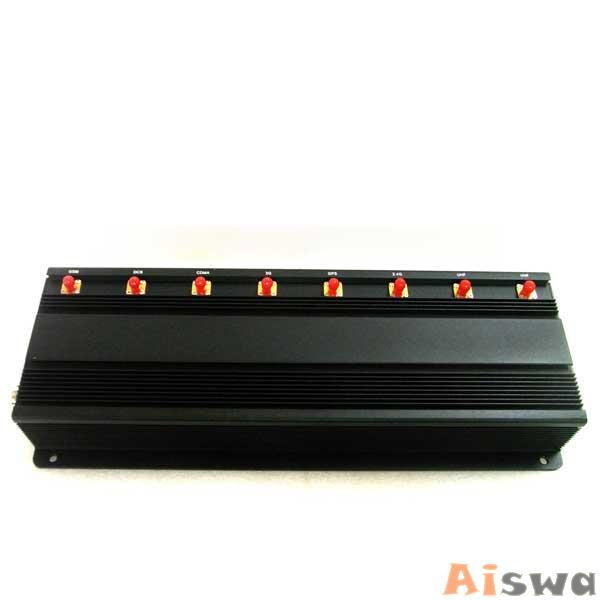 PROFISSIONAL 8 ANTENAS REFRIGERADO DE BLOQUEADOR DE CELULAR GSM-GPS-3G-UHF-VHF-LOJACK 2
