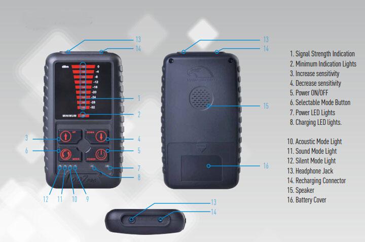 Portable Spy Camera Detector Hidden Bugs Wireless Signal Detector1