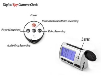 clock hidden camera