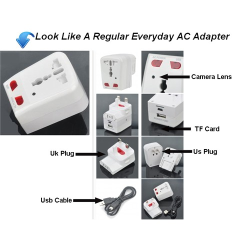 Universal Adapter DVR Spy Camera 2