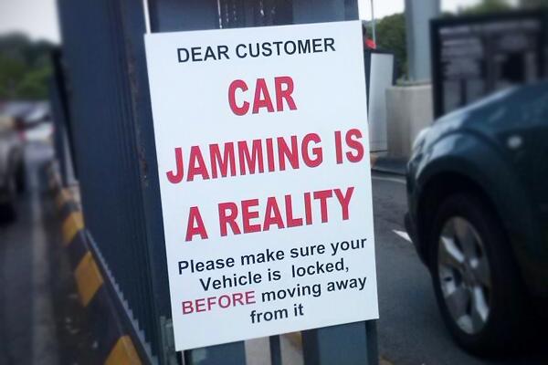 Car-jamming-warning