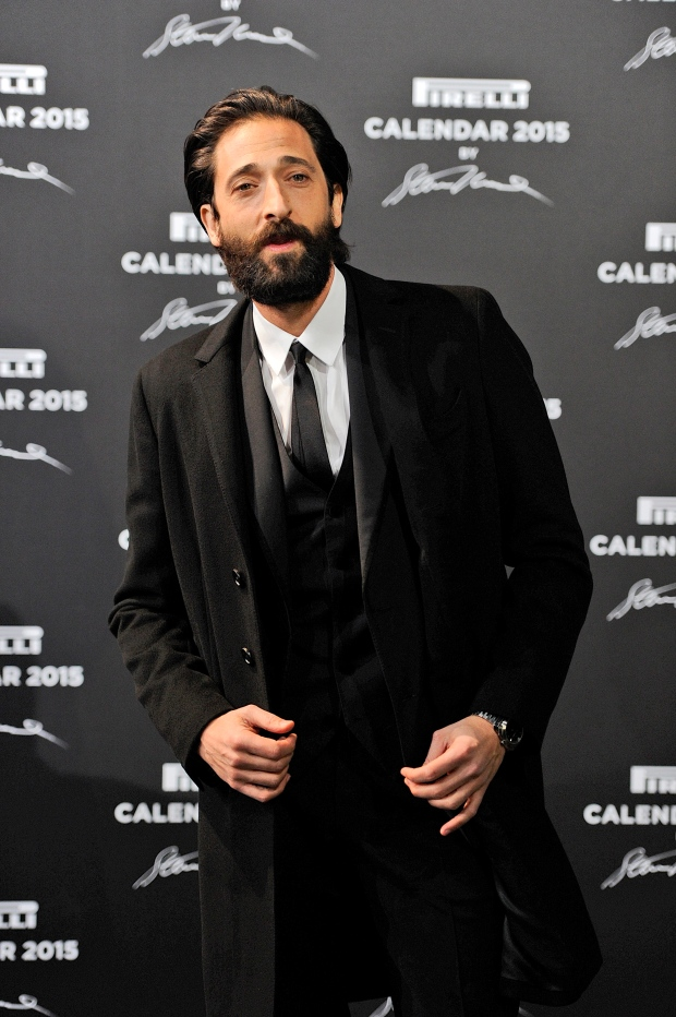 Fashion-forward Adrien Brody sports period beard for Pirelli