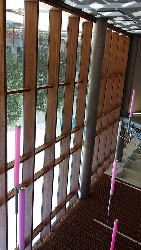 engineered wood curtain wall