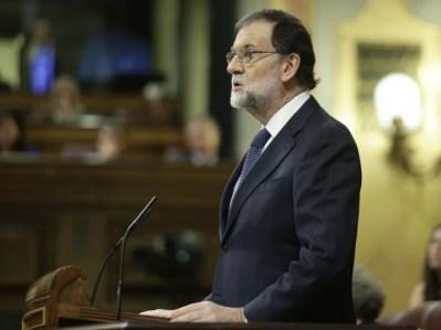 <p>El presidente del Gobierno, Mariano Rajoy, comparece en el Congreso para informar sobre la situación de Cataluña</p>