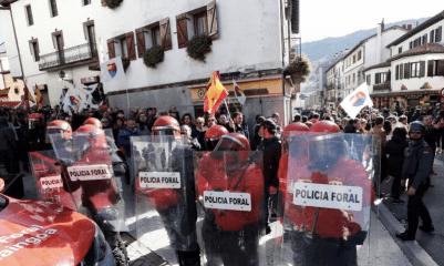 <p>Protestas en Alsasua, Navarra.</p>