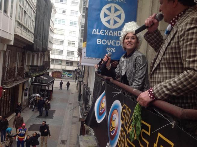 Isa Risco e Xurxo Souto no pregón de CUAC FM