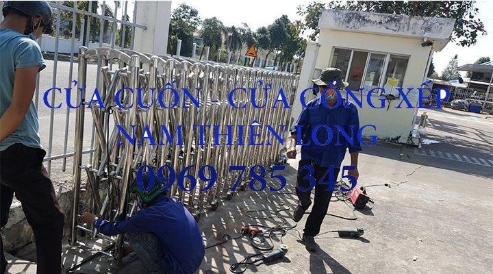 Sửa chữa cửa cổng xếp điện tại Bình Dương