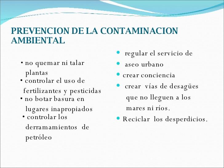 Cuadros comparativos y sinpticos sobre la contaminacin