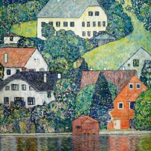 1GK2188 - Gustav Klimt - Houses at Unterach