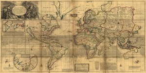 2MP1631 - Herman Moll - A New & Correct Map of the Whole World, 1719