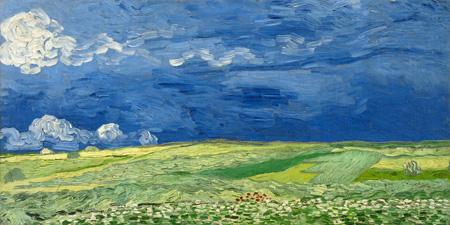 2VG1541 - Vincent Van Gogh - Wheatfield under thunderclouds
