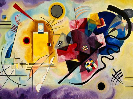 3WK2611 - Kandinsky - Yellow, Red & Blue