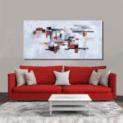 Sofa Paintings Abstract Best Sectional Sofas Under 1000 Painting Geometric Disordered White Broken