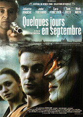 Algunos días de septiembre poster película