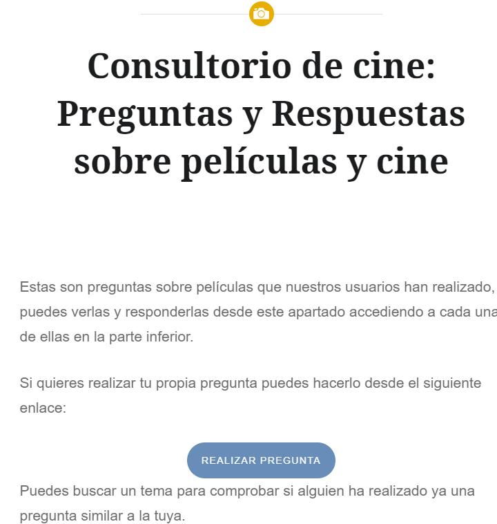 Consultorio de cine