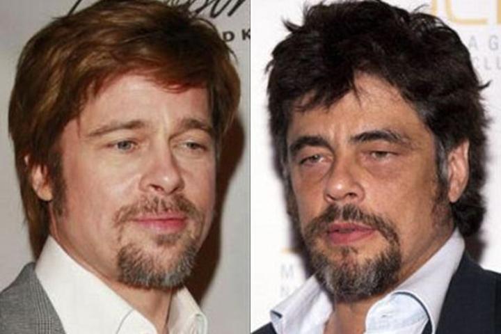 parecidos razonables Brad Pitt Benicio Toro