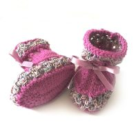 Cashmere Baby Booties -Hand Knit in Ireland - Cuando.