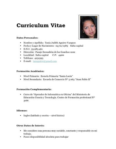 Modelos De Curriculum Vitae 2015 Argentina Best Custom Essay Writing