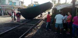 bloqueo CNTE vias tren