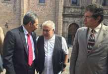 Medardo Serna, Eduardo Flores SUEUM y Gaudencio Anaya SPUM