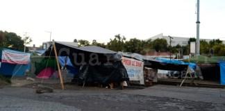 bloqueo CNTE Caltzontzin Uruapan