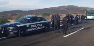 operativo policia michoacan autopista