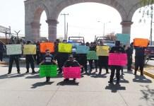 Protesta policias de Tarimbaro