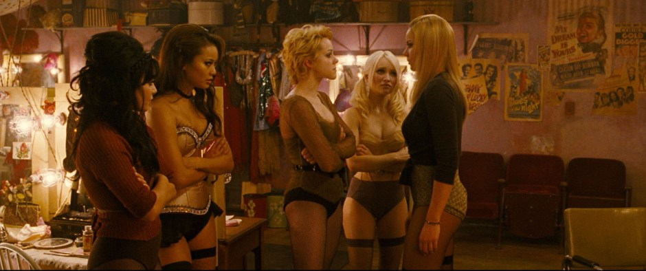 "(L-r) VANESSA HUDGENS as Blondie, JAMIE CHUNG as Amber, JENA MALONE as Rocket, EMILY BROWNING as Babydoll and ABBIE CORNISH as Sweet Pea in Warner Bros. Pictures' and Legendary Pictures' epic action fantasy ""SUCKER PUNCH,"" a Warner Bros. Pictures release."