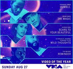 VMA 2017 Video del Año