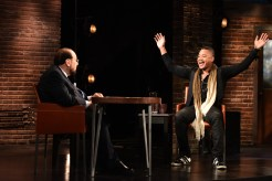 "INSIDE THE ACTORS STUDIO -- ""Cuba Gooding Jr."" -- Pictured: (l-r) James Lipton, Cuba Gooding Jr. -- (Photo by: Anthony Behar/Bravo)"