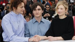 71st Cannes Film Festival - Photocall for the film Happy as Lazzaro Lazzaro Felice in competitionA - Cannes France May 14 2018 Director Alice Rohrwacher and cast members Adriano Tardiolo and Alba Rohrwacher REUTERS Stephane Mahe