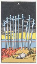 riderwaite 10 espadas