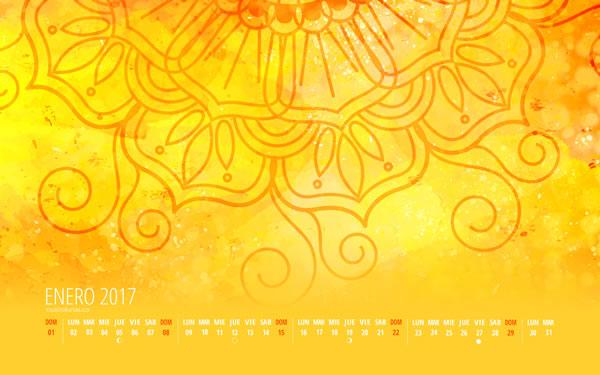 Calendario Cuatro Lunas Enero