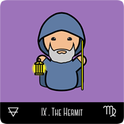 kokeshi tarot the hermit