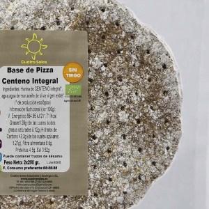 2 Bases de pizza 100% centeno integral ecológicas