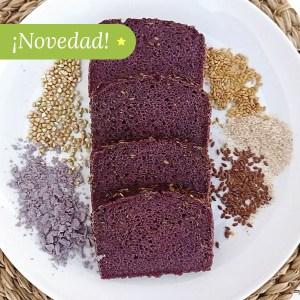 Pan de sarraceno y maíz morado ecológico