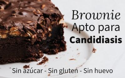 Receta de Brownie saludable apto para candidiasis