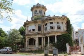 A historic mansion across from Havana's Lennon Park.