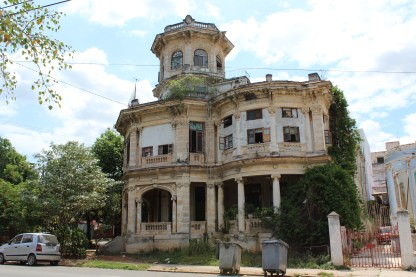 A historic mansion across from Havana's Lennon Park.