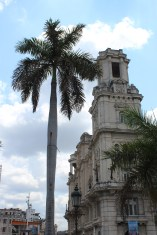 Historic architecture in Central Park, Havana.