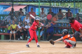 A Marianao player up to bat in the game against team Vermont.