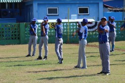 La Habana, the Havana provincial team, warms up prior to their game against Vermont.