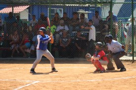 A slugger from La Habana, the provincial team, up to bat.