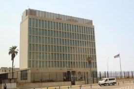 The U.S. Embassy in Havana, which reopened less than one year ago.