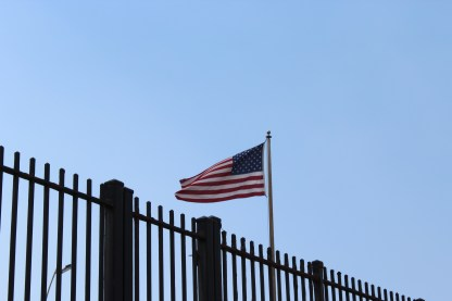 The American flag flying at the U.S. Embassy in Havana.